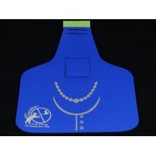 Royal Blue Necklace Big Bib
