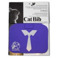 Purrple Tie Big Bib