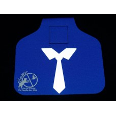 Royal Blue Tie Big Bib