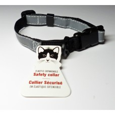 Silver Reflective Cat Collar